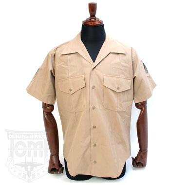 US MARINE DRESS SHORT SLEEVE SHIRT KHAKI 米軍放出品
