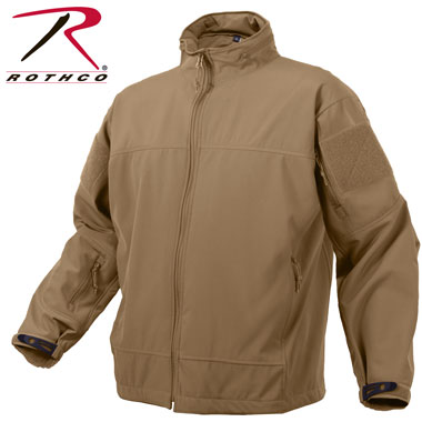 ROTHCO COVERT OPS LIGHT WEIGHT SOFT SHELL JACKET COYOTE