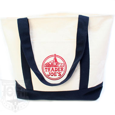 トレーダージョーズ TRADER JOES REUSABLE COTTON TOTE BAG