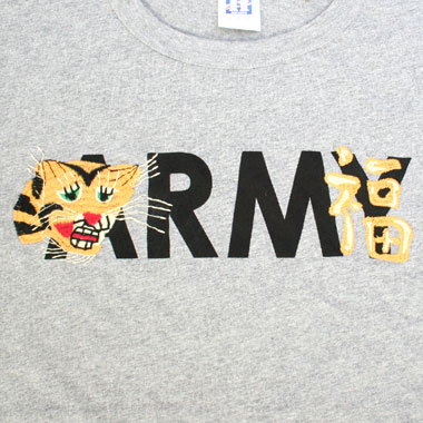 ARMY PRINT EMBROIDERY TEE / ベトジャンテイスト プリント刺繍Tシャツ