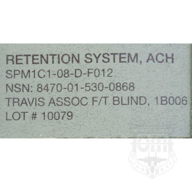 RETENTION SYSTEN ACH 米軍放出品