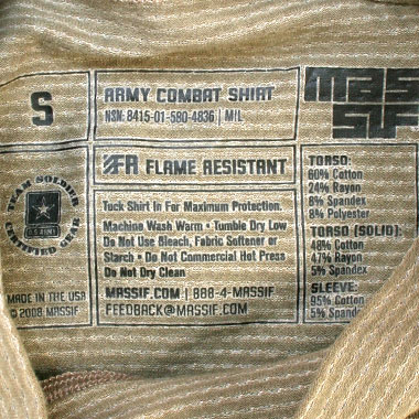 MASSIF ARMY COMBAT SHIRT マルチカモ