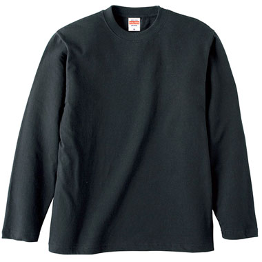 5.6oz LONG SLEEVE T-SHIRT BLACK 長袖