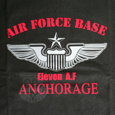 HOUSTON AIR FORCE BASE ANCHORAGE T-SHIRTS BLACK
