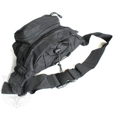 MILITARY HIKING WAIST POUCH BLACK