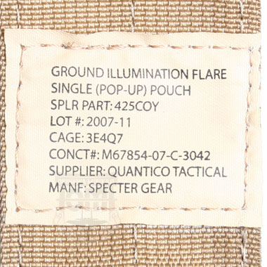GROUND ILLUMINATION FLARE SINGLE POP-UP POUCH