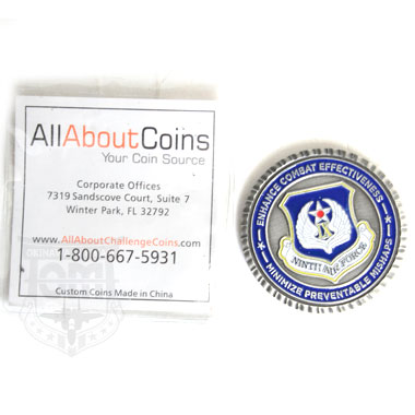 NINTH AIR FORCE SAFETY COINS