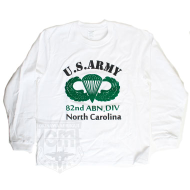 HOUSTON U.S.ARMY 82nd ABN.DIV T-SHIRTS ホワイト
