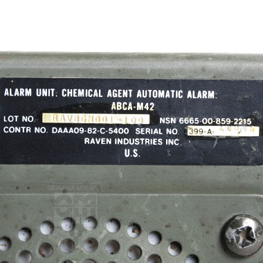 ALARM UNIT CHEMICAL AUTOMATIC ALARM ABCA-M42