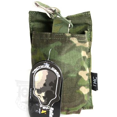 TMC 7.62mm DOUBLE MAG POUCH MULTICAM TROPIC