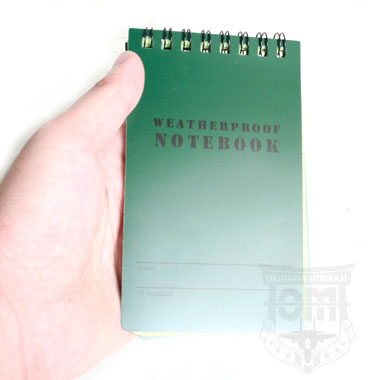 ZERO WEATHERPROOF NOTEBOOK OD