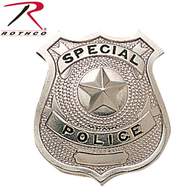 ROTHCO SECURITY POLICE BADGE シルバー