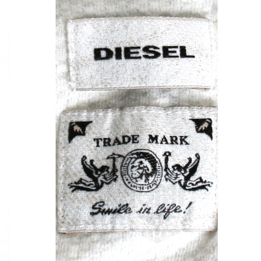 DIESEL TRADE MARK  LONG SLEEVE WEAR ホワイト
