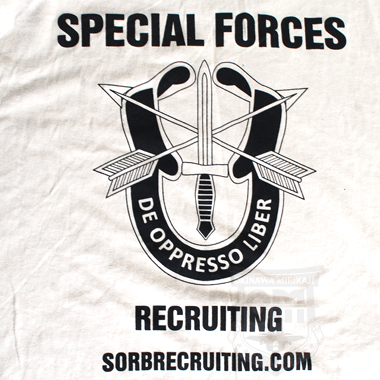 SPECIAL FORCES プリントTシャツ