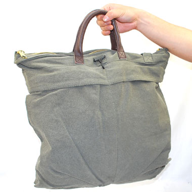VINTAGE CANVAS / LEATHER HELMET SHOULDER BAG