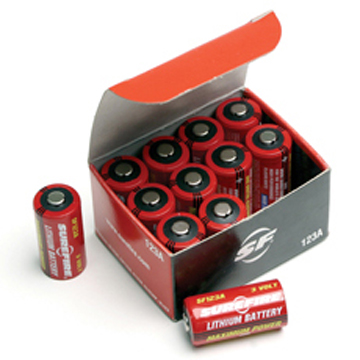 SUREFIRE SF-123A LITHIUM BATTERIES 12個入